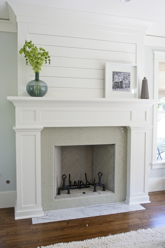 Fireplace makeover the plan little red brick house - Red brick fireplace makeover ...