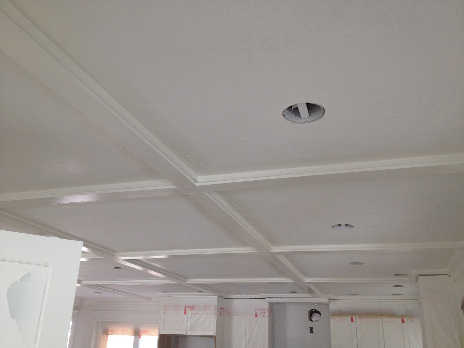 Sugar house remodel tiek built homes for Coffered ceiling detail