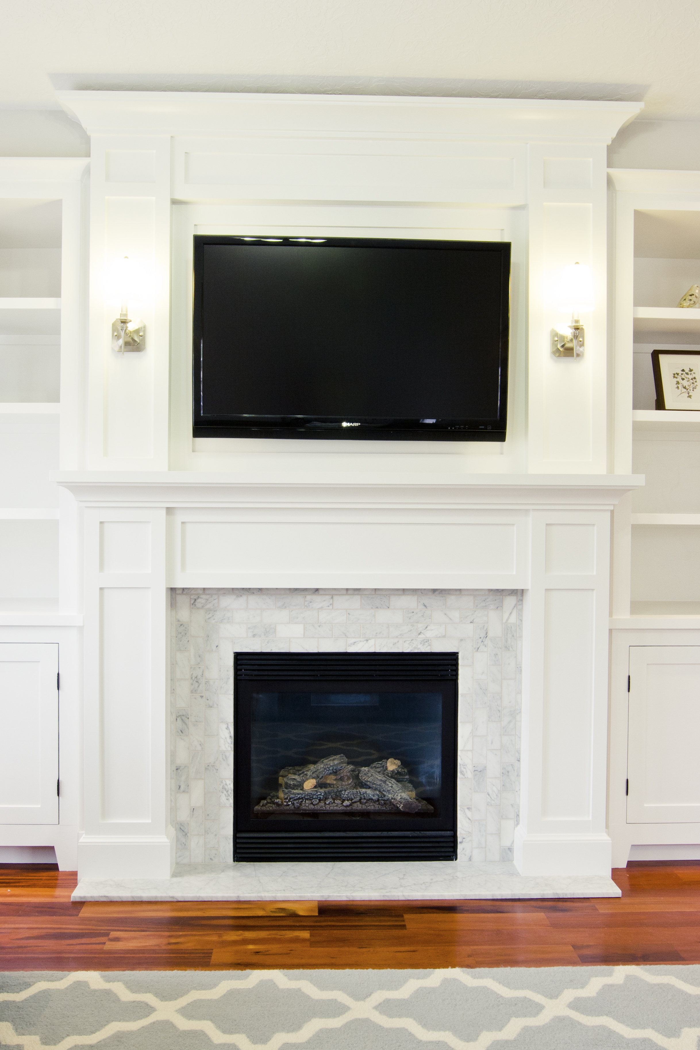 Daybreak befores and afters tiek built homes Fireplace surround ideas